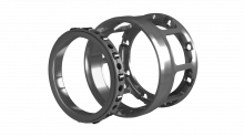 Cylindrical Roller Bearing Assembly With Vibration Damping Flange